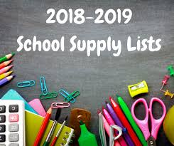 middle school supply list18-19